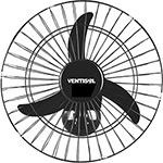 Ventilador de Parede Ventisol Oscilante New Premium Aço Preto 3 Velocidades - 50cm