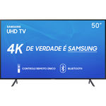 "Smart TV LED 50"" Samsung 50RU7100 Ultra HD 4K com Conversor Digital 3 HDMI 2 USB Wi-Fi Visual Livre de Cabos Controle Remoto Único e Bluetooth"