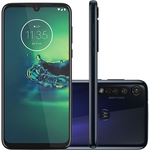 "Moto G8 Plus 64GB Dual Chip Android 6.3"" Qualcomm Snapdragon 665 4G Câmera 48MP + 5MP + 16MP- Azul Safira"