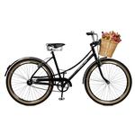 Bicicleta Aro 26 Bella Retro Preta Masterbike
