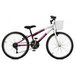 Bicicleta Aro 24 Serena Plus 21 Marchas Violeta/branco Masterbike