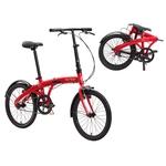 Bicicleta Dobrável Aro 20 Durban Eco Vermelha Completa