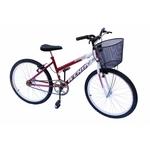 Bicicleta aro 24 wendy fem sem marcha convencional pink