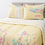 Enxoval Cama King Herbal Amarelo 7 Peças 100% Algodão - Casa & Conforto