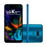 "Smartphone LG K12 Max 32GB Dual Chip Android 9.0 (Pie) Tela 6,2"" Octa Core 4G Câmera Dupla 13MP + F2.0 - Azul"