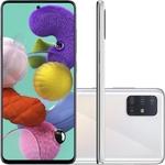 "Smartphone Samsung Galaxy A51 Android Tela 6,5"" Super Amoled Octa-Core 2.3 128GB 4G Câmera 48MP+12MP+5Mp - Branco"