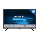 TV 32 Polegadas HD LED Smart Britânia Bivolt