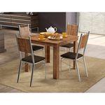 Conjunto Mesa 1555 Native Touch Com 4 Cadeiras 1723 Cromada/cacau Carraro