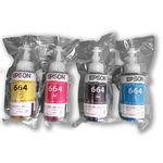 Tinta Original Epson Kit Com 4 Cores 70ml Cada Cor